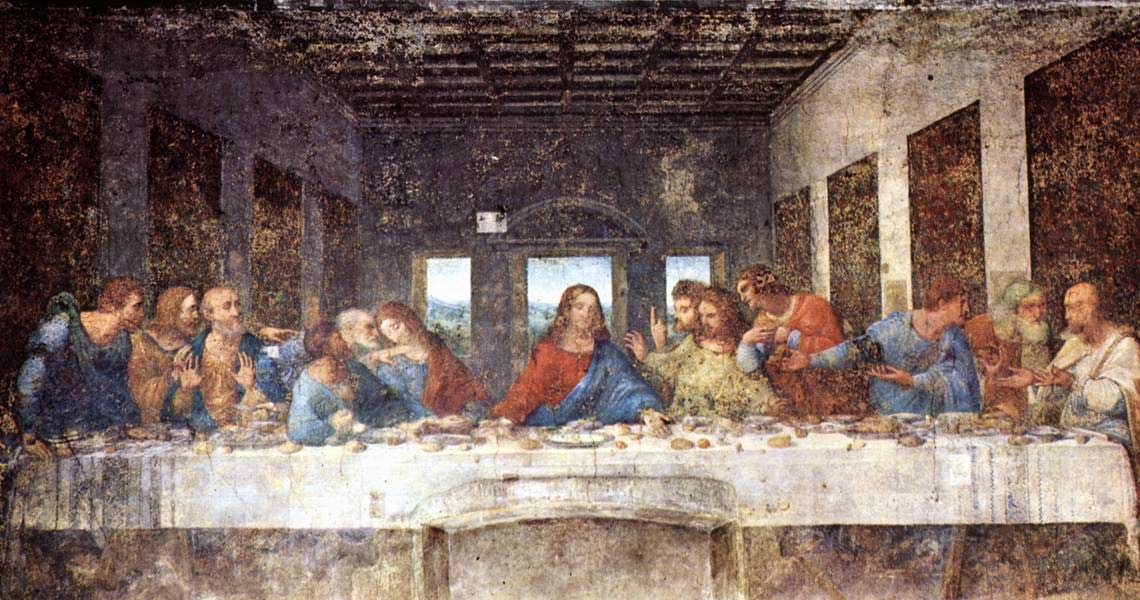 Leonardi da Vinci, Last Supper (Wikimedia Commons)