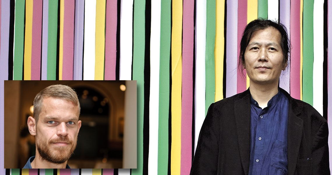 Svend Brinkmann (tv) och Byung-Chul Han (th)